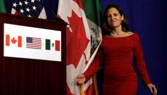 Chrystia Freeland denuncia propuesta poco profesionales en el TLCAN