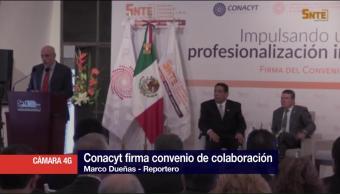 Conacyt Firma Convenio Colaboración Desarrollo Educativo