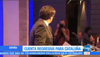 Cuenta Regresiva Cataluña Quedan Pocas Horas Carles Puigdemont