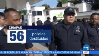 Destituyen Elementos Policiacos Hechos Corrupción Chiapas