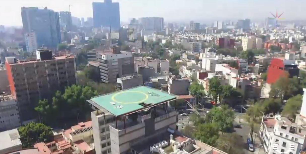 Aseguran helipuerto irregular en la delegación Cuauhtémoc