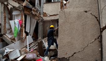 Edificio en colonia Portales Norte, CDMX, tras sismo 19S