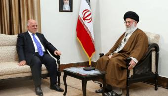 El primer ministro iraquí, y el líder supremo iraní