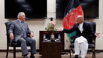 El secretario Tillerson y el presidente afgano, Ashraf Gani