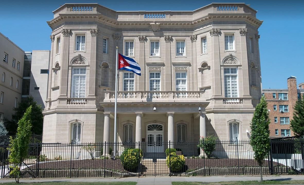 Sede de la embajada de Cuba en Estados Unidos