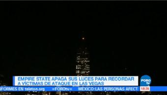 Empire State apaga sus luces en honor a las víctimas en Las Vegas