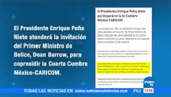 Enrique Peña Nieto Acudirá Iv Cumbre México Caricom