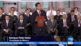 Epn Reconoce Médicos Labor Sismos Enrique Peña Nieto