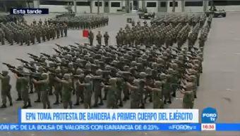 Epn Toma Protesta Bandera Primer Cuerpo Ejército Presidente Enrique Peña Nieto