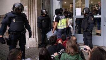 gobierno catalan denuncia violencia balas referendum