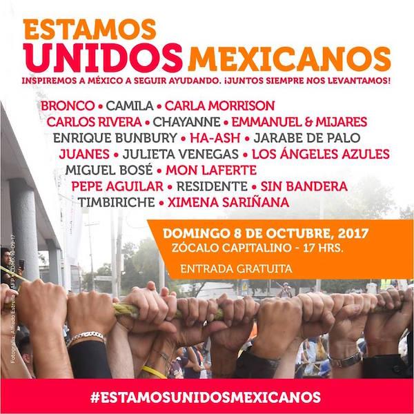 Concierto Estamos Unidos Mexicanos