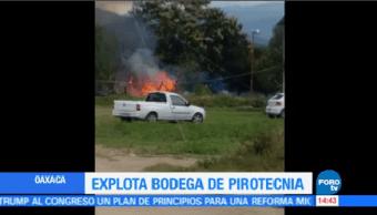 Explota Bodega Cohetes Santa María Tule Oaxaca