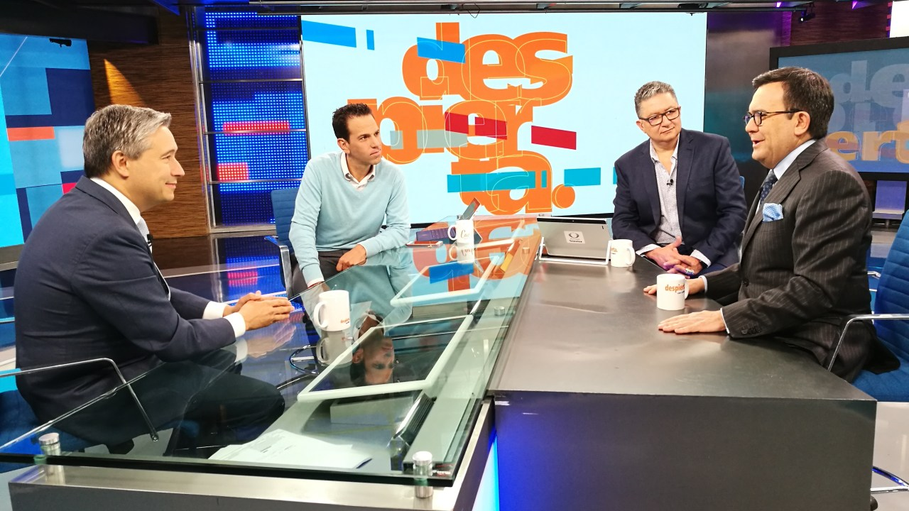 Francois-Philippe Champagne e Ildefonso Guajardo en Despierta con Loret