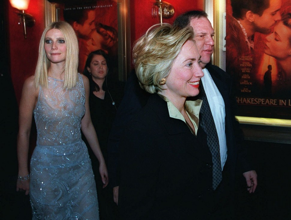 Harvey Weinstein, Hillary Clinton y Gwyneth Paltrow