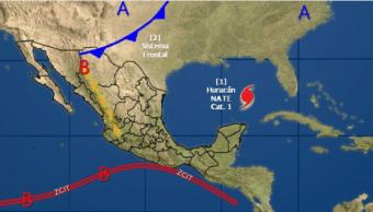 Sistema frontal se extenderá sobre norte de México: SMN