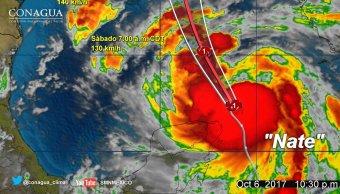 Nate evoluciona huracán categoría 1 rumbo Estados Unidos