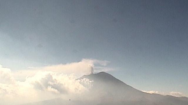 Imagen del volcán Popocatépetl este 30 de octubre