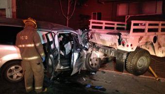 accidente vial soldados chihuahua ejercito defensa