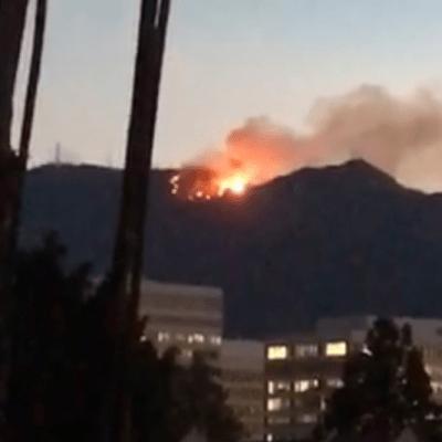 Evacuan observatorio Mount Wilson por incendio forestal en Los Angeles, California