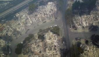 Captan desde el espacio la devastación de incendios forestales en California