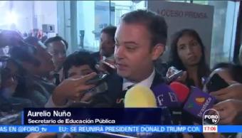 Inicia Reubicación Alumnos Escuelas Afectadas Sismos Secretario De Educación Pública Aurelio Nuño