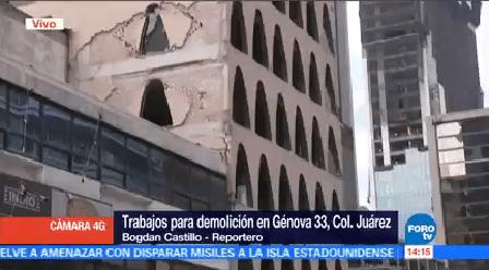 Inician Trabajos Demolición Edificio Génova 33 CDMX