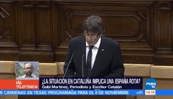 situación Cataluña implica España rota Gabi Martínez periodista escritor catalán