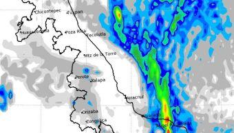Frente frío número 4 afecta Veracruz con fuertes tormentas