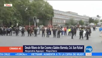 Manifestación Bloquea Circulación Ribera San Cosme Cdmx