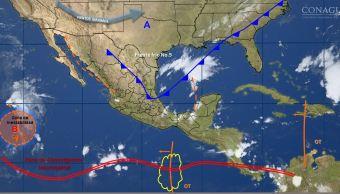 mapa con el clima para este 16 de octubre