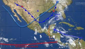 Mapa con el clima para este 23 de octubre