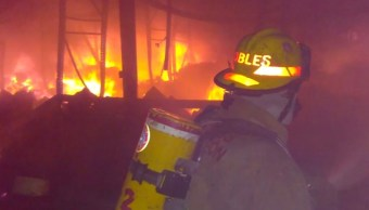 Muere bombero en Monterrey tras sofocar incendio en bodega. (Twitter @_LASNOTICIASMTY)