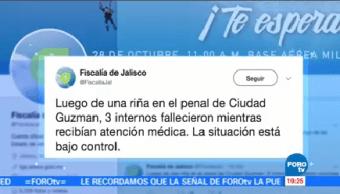 Mueren Tres Internos Tras Riña Penal Ciudad Guzmán Jalisco