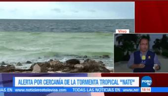 Nate Localiza 180 Kilómetros Cozumel Tormenta Tropical Nate