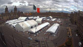 panoramica del zocalo de la ciudad de méxico
