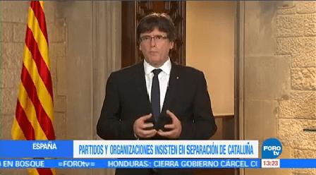 Partidos Organizaciones Insisten Separación Cataluña