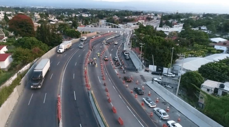 Reabren tres carriles del Paso Exprés; continúan trabajos de reparación
