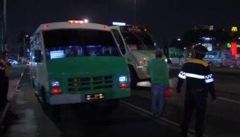 Policía CDMX realiza operativo en transporte público de Iztapalapa