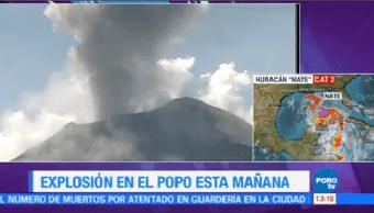 Popocatépetl Registra Fumarola 3 Mil Metros Altura
