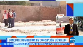 Concluir Trabajados Demolición Concepción Béistegui Cdmx