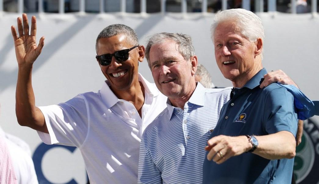 Barack Obama, George W. Bush, Bill Clinton, Huracanes, Damnificados, Concierto
