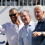 Barack Obama, George W. Bush, Bill Clinton, Huracanes, Damnificados, Concierto