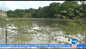 Protección Civil de Campeche vigila nivel del río Palizada