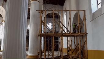 Reconstruyen catedral de San Cristóbal de las Casas