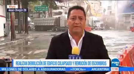 Retiran Escombros Álvaro Obregón 286 Avanza Demolición Remoción Escombros