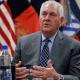 Rex Tillerson, secretario de Estado de EU, durante visita en Afganistán