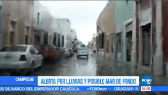 Mantienen Lluvias Campeche Moderadas Fuertes Aire Marítimo