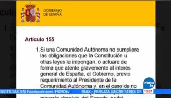 Senado España Analiza Aplicación Artículo 155 Cataluña
