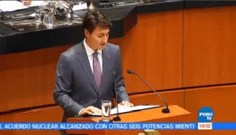 Senadores Reciben Primer Ministro Canadá