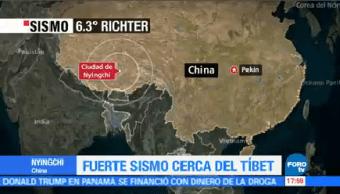 Sismo Magnitud 6.3 Sacude Región Tíbet